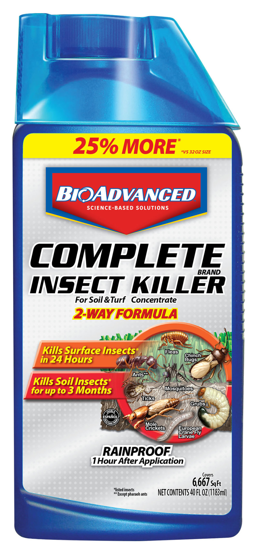 BioAdvanced Complete Insect Killer for Soil & Turf 8ea/40 oz