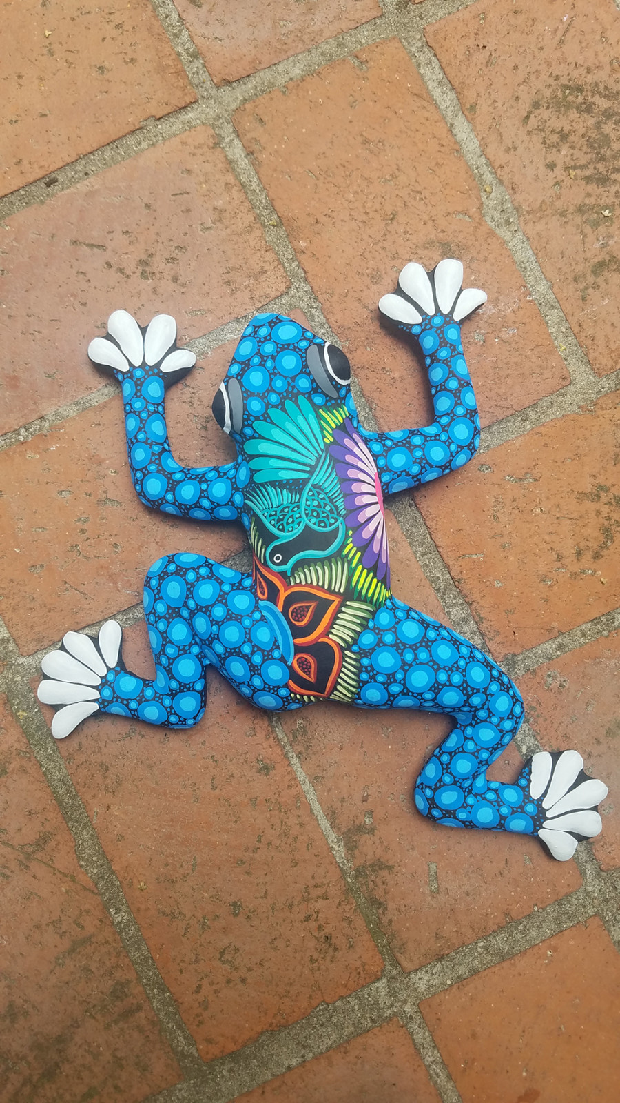 Talavera Frog Hanger Puebla 6ea/Small
