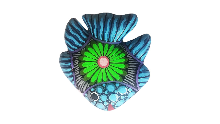 Talavera Fish Hanger Puebla Multi-Color 4ea/Small
