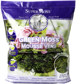 Supermoss Forest Moss Preserved Fresh Green 6ea/24 qt