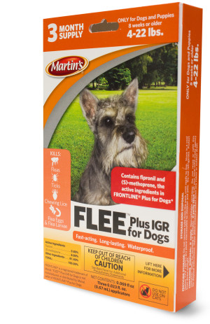 Control Solutions Flee Plus IGR Spot On for Dogs lbs 6ea/4-22 .4 oz