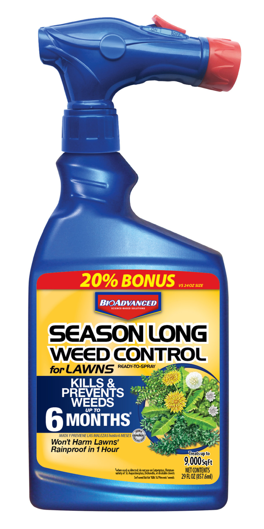 BioAdvanced Season Long Weed Control for Lawns Ready to Spray 8ea/29 oz