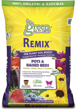 Green As It Gets Remix Pre-Plant Soil Boost for Pots & Raised Beds 1ea/37 lb
