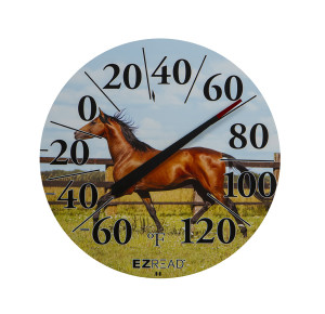 E-Z Read Dial Thermometer with Horse Multi-Color 6ea/12.5 in