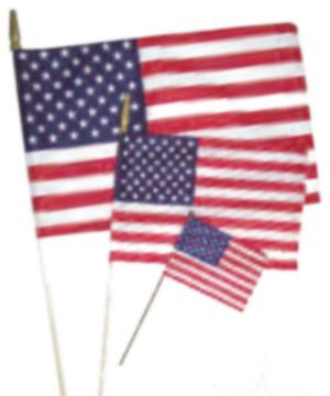 Flag Zone American Hand Flag Economy (No Sew) 12ea/4Inx6 in