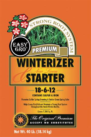 Easy Gro Winterizer Starter & New Lawn Fertilizer 18-6-12 2ea/40 lb