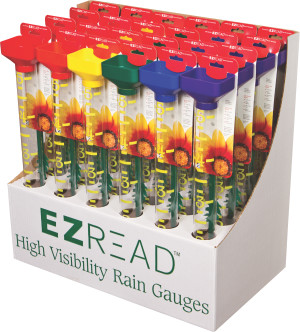 E-Z Read Rainbow Rain Gauge Display 24ea
