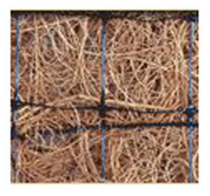 Excelsior Erosion Control Blanket 100% Coconut Reg-Double Net Natural 1ea/7-1/2Ftx120 ft