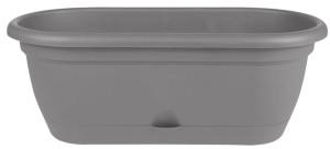 Bloem Lucca Window Box Planter Charcoal 6ea/18 in
