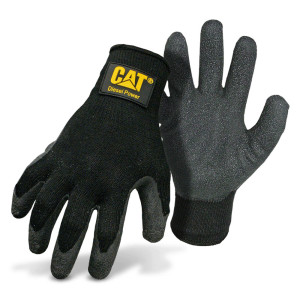 Cat Breathable Poly/Cotton with Latex Palm and Finger Glove