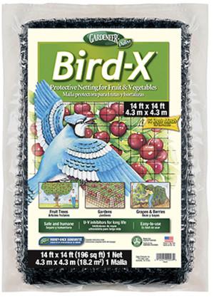 Dalen Gardeneer Bird-X Protective Netting Black 12ea/14Ftx14 ft