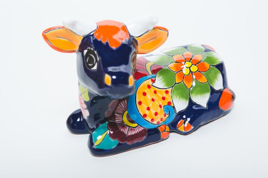 Talavera Cow Statue Multi-Color 4ea