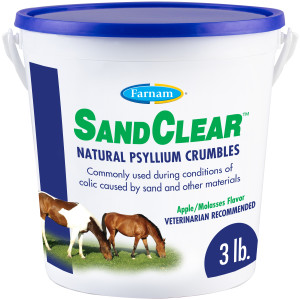 Farnam SandClear Natural Psyllium Crumbles for Horses, Supports the removal of sand and dirt, 6ea/3 lb, 9 Scoops