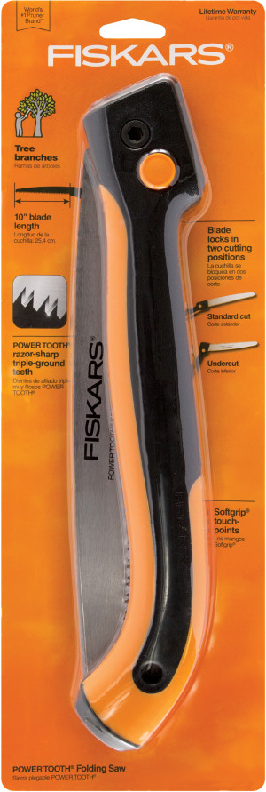 Fiskars Power Tooth Softgrip Large Folding Saw 4ea/10 in