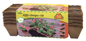 Jiffy Strips 10 Grows Plants Brown 30ea/50 Plants 5 pk