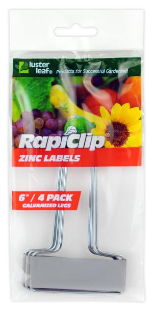Luster Leaf Rapiclip Zinc Label Grey 12ea/4 pk, 6 in