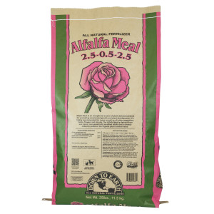 Down To Earth Alfalfa Meal Natural Fertilizer 2.5-.05-2.5 OMRI 1ea/25 lb