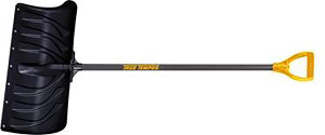 Ames Snow Pusher Poly With Steel Handle Black 6ea/24 in