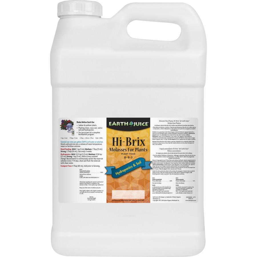 Earth Juice Hi-Brix Molasses Plant Food 0-0-3 2ea/2.5 gal