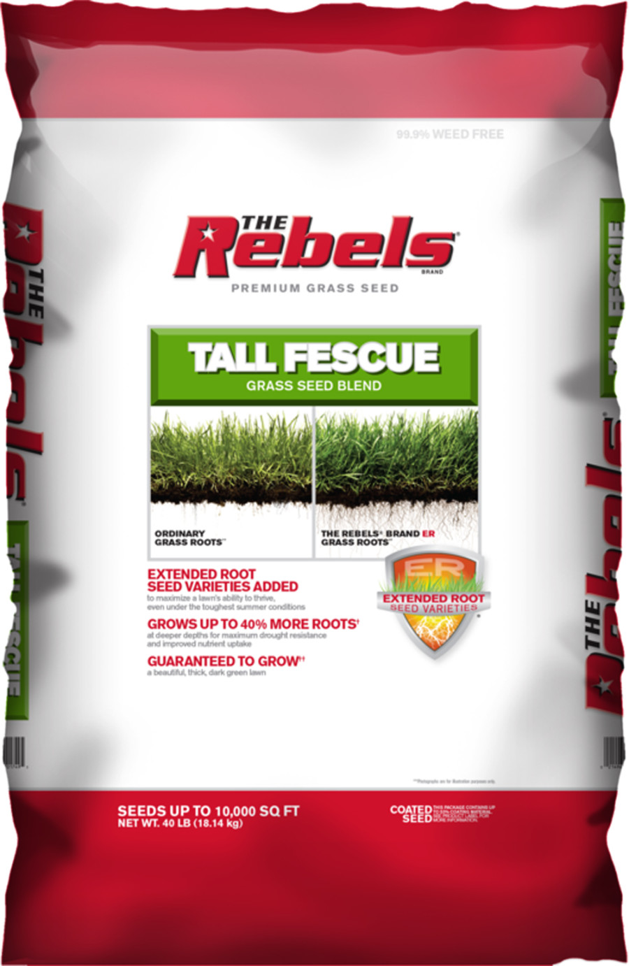 The Rebels Tall Fescue Grass Seed Blend Powder Coated 1ea/40 lb