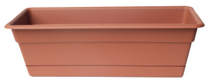 Bloem Dura Cotta Window Box Planter Terra Cotta 12ea/24 in