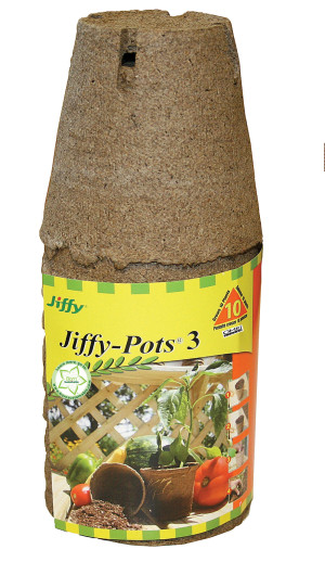 Jiffy Pots 3 Round Grows Plants 37ea/10 Plants 3 in