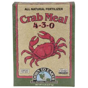 Down To Earth Crab Meal Natural Fertilizer 4-3-0 OMRI 6ea/5 lb