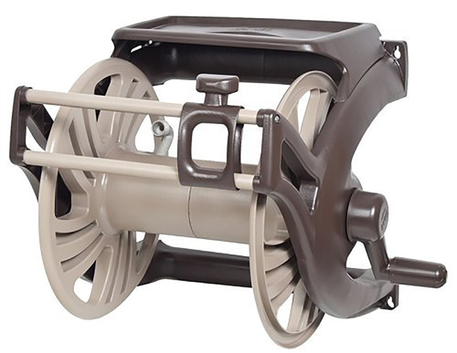 Ames NeverLeak Hose Reel Poly Wall Mount With Manual Guide Tan, Brown 2ea/225 ft