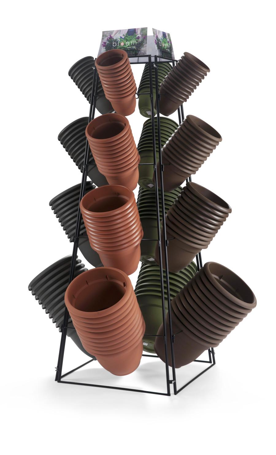 Bloem Ariana 6in & 12in Core Display Charcoal, Chocolate, Terra Cotta, Living Green 1ea/160Pc
