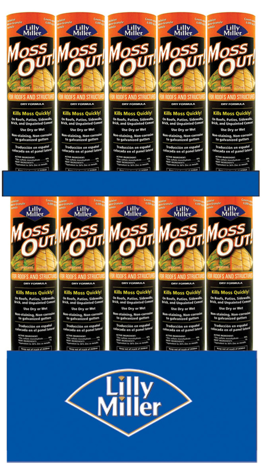 Lilly Miller Moss Out! For Roofs And Structures Dry Formula Quarter Pallet 72ea/4 lb