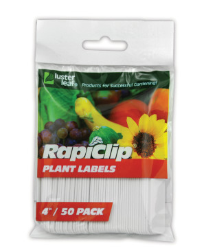 Luster Leaf Rapiclip Plant Labels White 12ea/50Pk 4 in