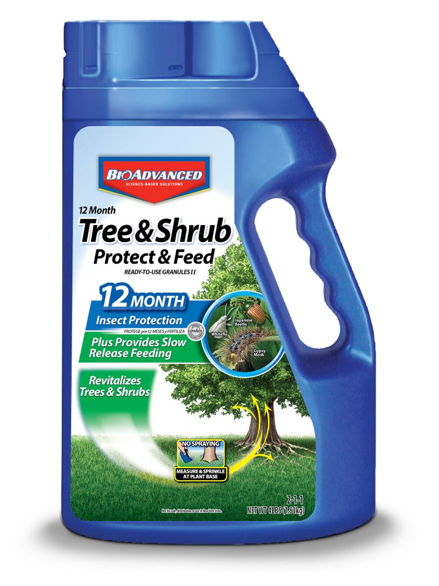 BioAdvanced 12 Month Tree & Shrub Protect & Feed Granules 2-1-1 6ea/4 lb