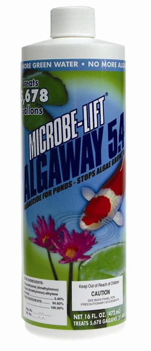 Microbe-Lift AlgAway 5.4 Algaecide for Ponds 12ea/16 oz