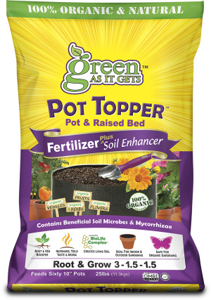 Green As It Gets Pot Topper Fertilizer Plus Soil Enchancer 3-1.5-1.5 1ea/25 lb