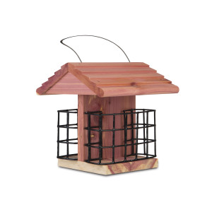 Pennington Cedar Suet Station Bird Feeder Brown 2ea