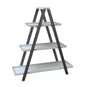 Panacea Vintage Ladder A-Frame Plant Stand Black 1ea/38.5 In (W) X 45 In (H) X 14 In (D)