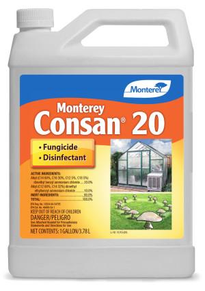 Monterey Consan 20 Fungicide Disinfectant Deodorizer 4ea/1 gal