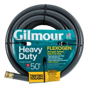 Gilmour Flexogen Premium Hose Heavy Duty Black 4ea/3/4Inx50 ft