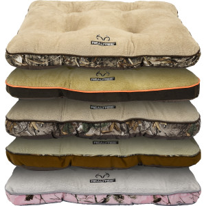 Realtree Tufted Gusset Pet Bed Assorted Display 10ea/30In X 40 in, 10 Ea