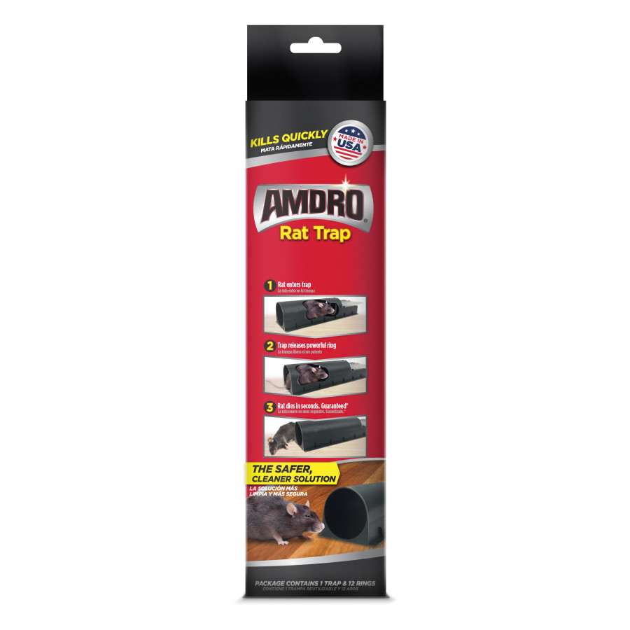 Amdro Rat Trap 8ea/1 Trap With 12 Rings