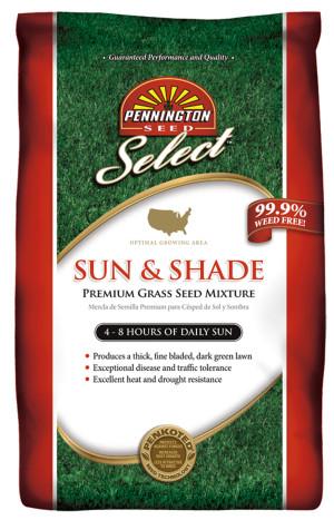 Pennington Select Sun & Shade Grass Seed Mixture 1ea/50 lb