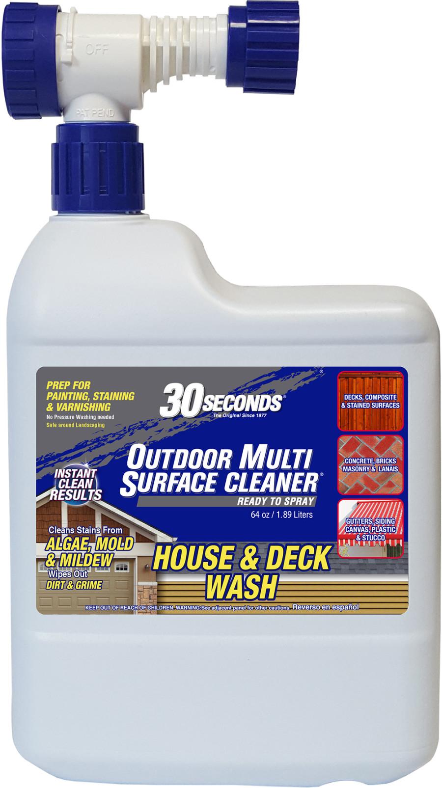 30 Seconds Outdoor Multi Surface Algae Mold & Mildew Cleaner Ready to Spray Floor Display Floor Display 45ea/64 oz