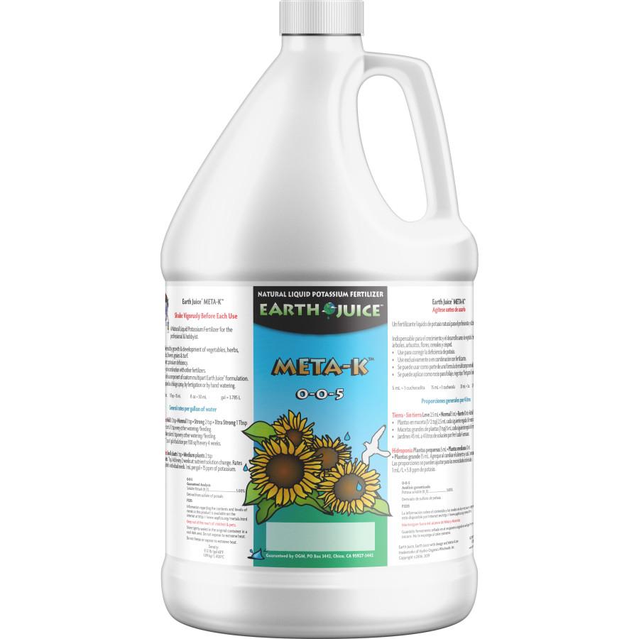 Earth Juice Meta-K Natural Liquid Potassium Fertilizer 0-0-5 4ea/1 gal