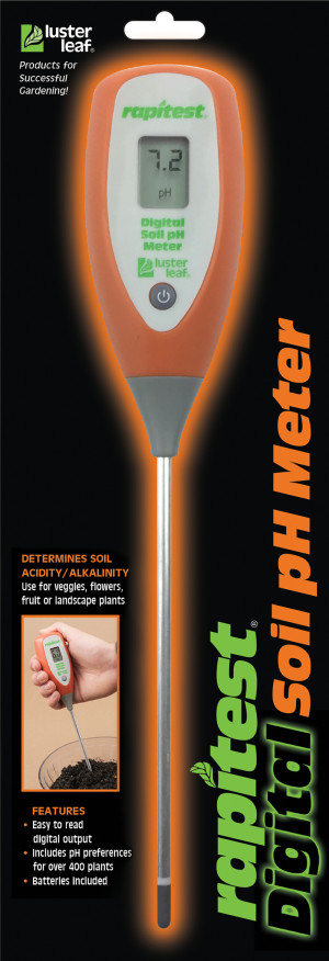 Luster Leaf Rapitest Digital Soil pH Meter Orange 12ea/13 in