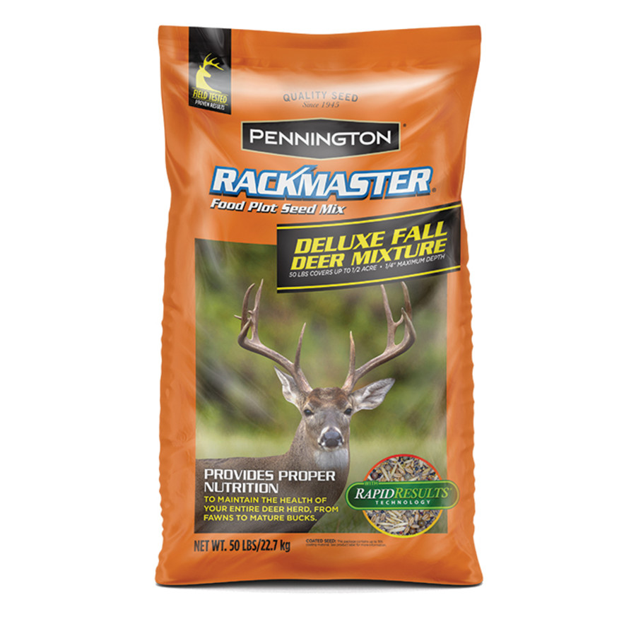 Pennington Rackmaster Deluxe Fall Deer Mixture Food Plot Seed Mix 1ea/50 lb