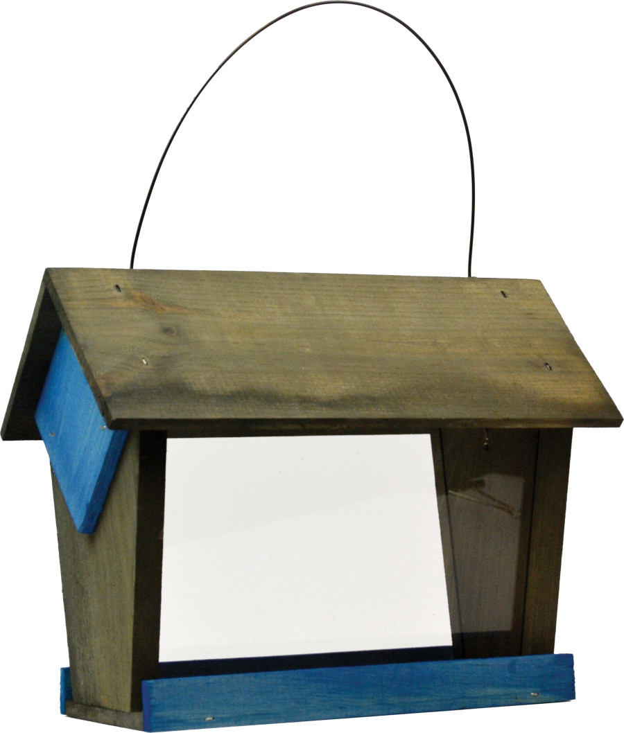 Pennington Stained Hopper Feeder Blue & Gray 2ea