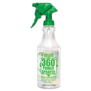 Harris 360 Upside Down Power Sprayer Bottle Display Clear, Green 12ea