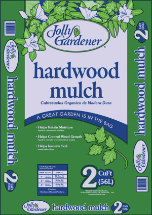 Jolly Gardener Hardwood Mulch Natural 1ea/2Cuft