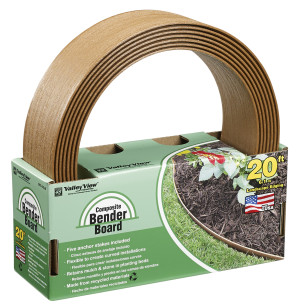 Valley View Bender Board Coil With Metal Stakes Light Brown 4ea/3.5 In X 20 ft