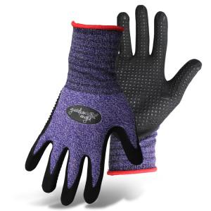 Boss Guardian Angel® Dotted Nitrile Palm Knit Wrist Glove Purple, Red 12ea/Small